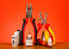 Electrician's tools Stock Image