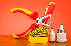 Electrician's tools Stock Photos