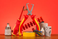 Electrician's tools Stock Photography