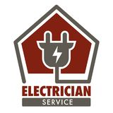 Electrician Service Isolated Icon Plug And Current Wiring Stock Photo