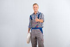 Electrician showing thumbs up Stock Image