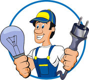 Electrician stock illustration