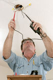 Electrician Testing Voltage Royalty Free Stock Images