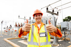 Electrician thumbs up Stock Photography