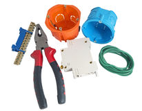 Electrician tools Stock Photos