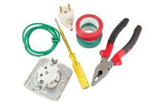 The Electrician tools Royalty Free Stock Photo
