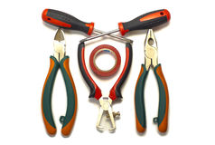 Electrician tools Royalty Free Stock Images