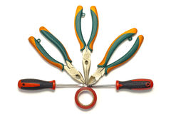 Electrician tools Stock Image