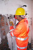 Electrician at work Royalty Free Stock Photography