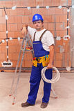 Electrician at work site Royalty Free Stock Photo