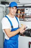 Electrician worker inspector Royalty Free Stock Photography