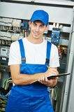 Electrician worker inspector Royalty Free Stock Image