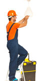 Electrician worker man working Royalty Free Stock Photos