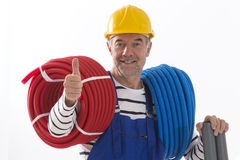 Electrician worker stock photography