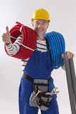 Electrician worker royalty free stock images