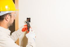 Electrician working Stock Photos