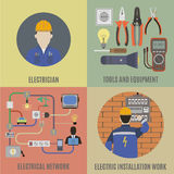 Electricians and electrical work Royalty Free Stock Photo