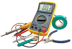 Electricians tools stock images