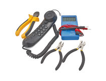 Electricians tools Royalty Free Stock Images