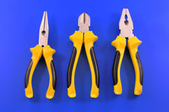 Electricians tools yellow Royalty Free Stock Photo