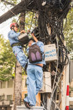Electricians in vietnam Stock Photo