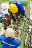 Electricians work Royalty Free Stock Photography