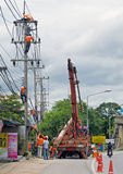 Electricians is working, Thailand Royalty Free Stock Image