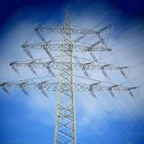 Electricidad, árbol de Navidad Imagen de archivo libre de regalías
