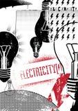electricidad Cartel retro del grunge Ilustración del vector Imágenes de archivo libres de regalías