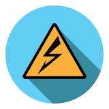 Electricidad de la atención de la muestra de la imagen del vector Imagen de archivo