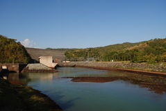 Electricidad de la presa  Foto de archivo