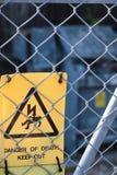 Electricidad del peligro Fotos de archivo libres de regalías