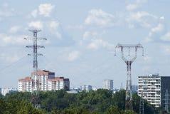 Electricidad en ciudad Fotografía de archivo