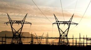 Electricidad en Ciudad del Cabo foto de archivo