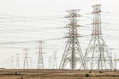 Electricidad en el desierto Foto de archivo