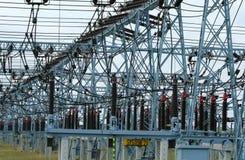 Electricidad en Polonia Fotografía de archivo