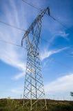 electricidad Líneas eléctricas Imagen de archivo libre de regalías