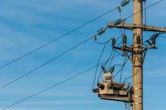 Electricidad poste Imagenes de archivo
