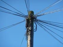 Electricidad poste Fotografía de archivo