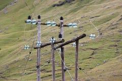 Electricidad rural foto de archivo