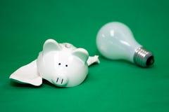 Electricidad verde Imagen de archivo libre de regalías