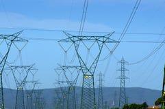 Electricidad y naturaleza Imagen de archivo libre de regalías