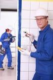 electricista Imagen de archivo libre de regalías