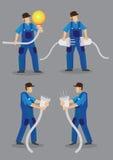 Electricista divertido Vector Character Illustration Fotos de archivo libres de regalías