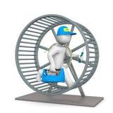 Electricista Hamster Wheel Imagenes de archivo