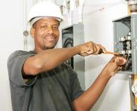 Electricista hermoso Foto de archivo libre de regalías
