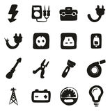 Electricista Icons Freehand Fill Fotos de archivo libres de regalías