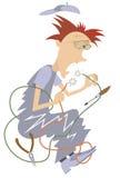 Electricista Illustration Foto de archivo libre de regalías