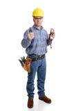 Electricista listo para el trabajo Imagenes de archivo