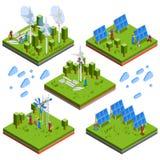 Electricista People Isometric Composition stock de ilustración